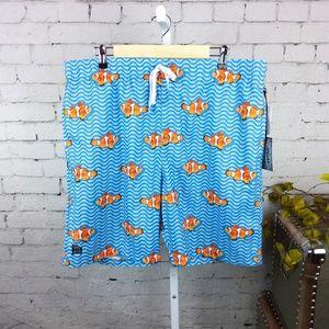 NWT Brooklyn Cloth men's clownfish swim trunks